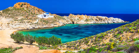 lesure: turquoise beaches of Greek islands Serifos