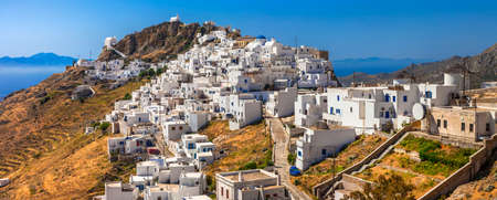 traditional Greece. view of Hora on Serifos island