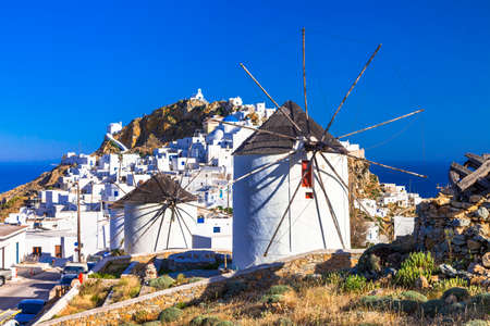 traditional Greece. view of Hora and windmills on Serifos island