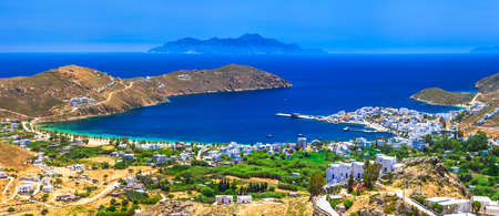 lesure: panoramic view of Serifos island Cyclades Greece Stock Photo