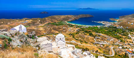 cyclades: panoramic view of Serifos island Cyclades Greece Stock Photo