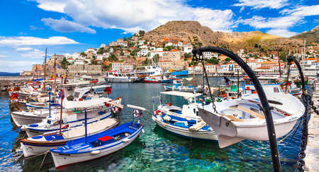 pictorial: pictorial port of Hydra island Greece