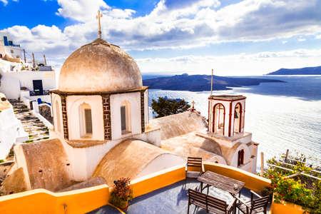 fira: churches Santorini - fira town, Greece