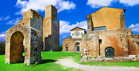 etrurian: Tuscania - ancient etruscan town in Italy, Viterbo province Editorial