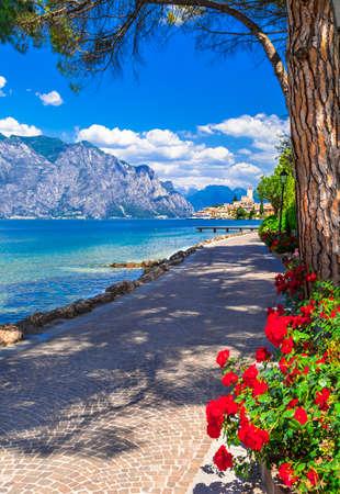sirmione: beautiful Lago di Garda, Malcesine, Italy