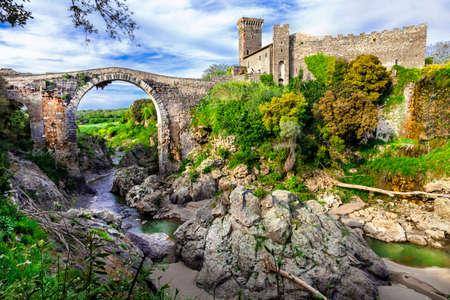 impressive: medieval Italy series - Vulci castle with impressive bridge, Viterbo