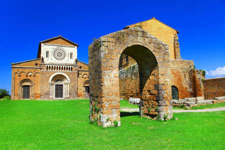 tuscania: Tuscania - ancient etrutian town in Italy, Viterbo province Editorial