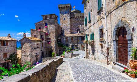 etrurian: Bolsena - medieval village and castle.Viterbo provence, Italy