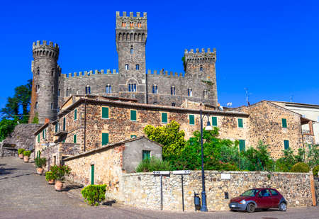 etrurian: Torre Alfina - medieavl borgo with castle. Italy Editorial