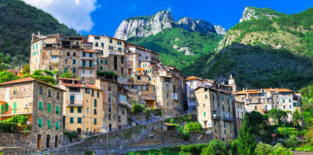 liguria: beautiful villages of Italy - Buggio in Liguria Stock Photo