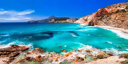 ギリシャ ・ ミロス島, 美しいビーチ 写真素材