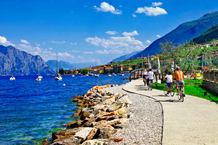 Lago di Garda vacations. Italy 免版税图像