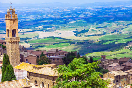 montalcino: traditional landscapes of Tuscany - Montalcino town