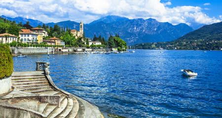 Scenic Lago di Como - nothen Italië Stockfoto