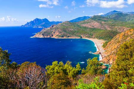 szenische Korsika Standard-Bild