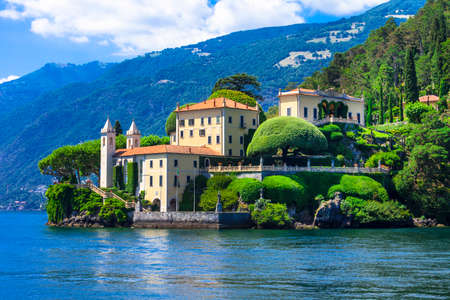 romantic sky: beautiful Lago di Como, Lenno. Italy