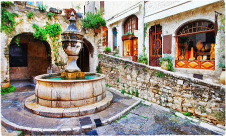 Saint-Paul de Vence - beautiful village in France, Provence 版權商用圖片