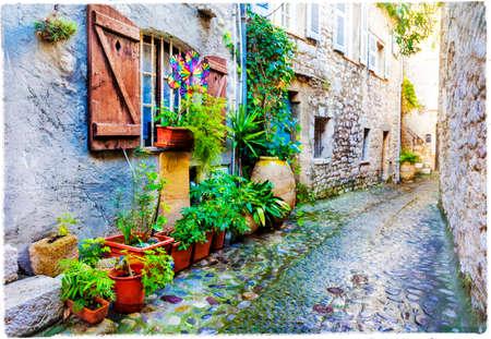 vence: charming streets of old villages in France - Saint-Paul de Vence