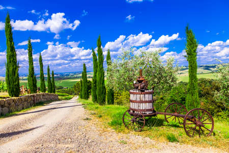 traditional landscapesof Tuscany, Italy Stock Photo - 44685750