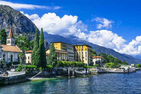 paisaje mediterraneo: paisaje del Lago di Como, Cadenabbia. Italia Foto de archivo