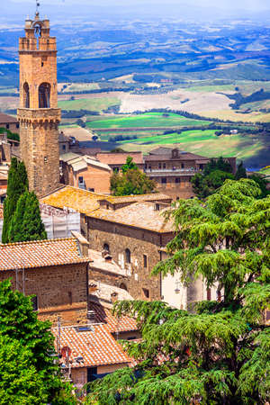 the tuscany: Montalcino in Tuscany, Italy Editorial