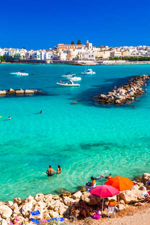 littoral: Italian holidays - Otranto with amazing sea.Puglia Editorial