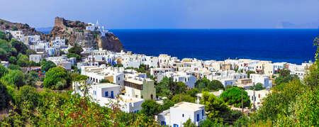 beautifu: beautifu greek islands- Nisyros, view with monastery Stock Photo