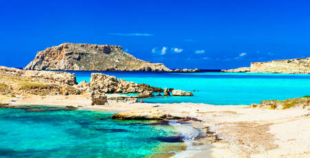 greece: amazing turquoise sea in Lefkos beach. Karpathos island. Greece