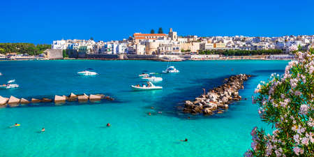 Italian holidays - beautiful sea and town Otranto in Puglia