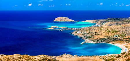 beaches if Greek islands - Lefkos Karpathos Banco de Imagens