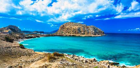 impressive: impressive sea landscapes of Greek islands - Karpathos Stock Photo