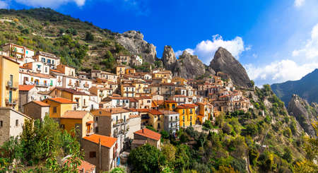 on of the most beautiful villages of Italy - Castelmezzano in Basilicata