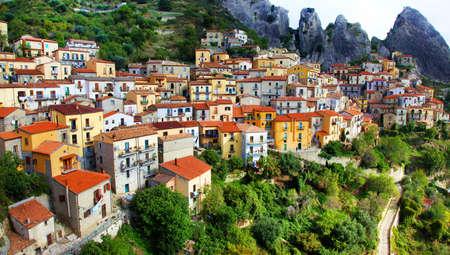 lucania: most beautiful Italian villages series - Castelmezzano