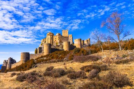 impressive: Medieval impressive castle Loarre, Spain Editorial