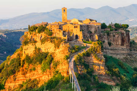 ghost rock: ancient Civita di Bagnoregio - ghost town,italy Stock Photo