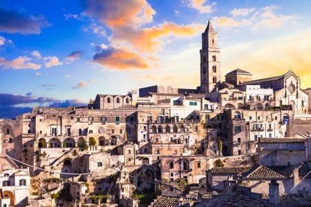 sassi: ancient Matera - landmarks of Italy series Stock Photo