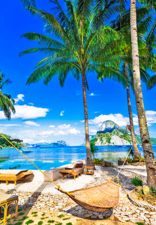 tropical relax in luxury resort