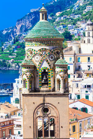 cathedrale: beautiful churches of Amalfi, Italy Stock Photo