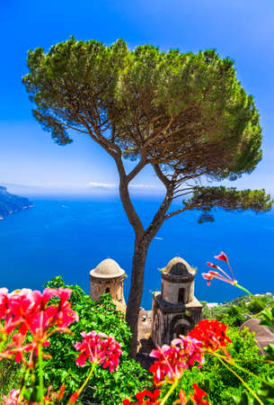 cathedrale: scenic Ravello in Amalfi, Italy Stock Photo