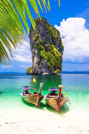 Schilderachtige landschappen van Thaise eilanden, provincie Krabi Stockfoto