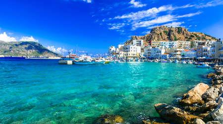 美しい島のギリシャの島カルパトス ピガディア 写真素材