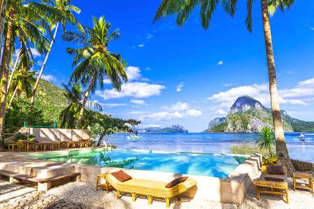 Vacances tropicales aux Philippines, Palawan Banque d'images - 48857868