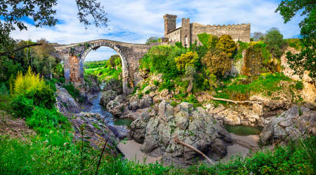 etruscan: ancient Italy - Vulci - etruscan city Stock Photo