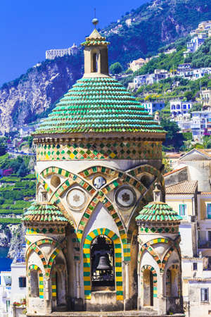 cathedrale: beautiful churches of Amalfi. Italy Stock Photo