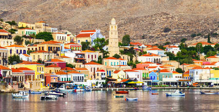 halki: traditional beautiful greek islands - Chalki in Dodecanes