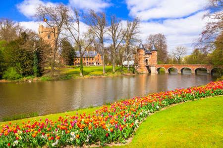 romantische kasteel Groot-Bijgaarden, België Redactioneel