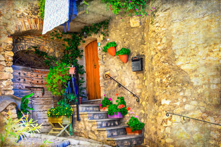village: charming streets of italian villages