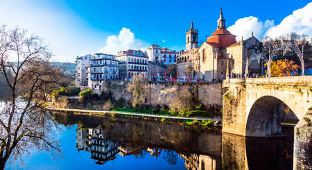 pictorial: Amarante - pictorial town in Portugal Stock Photo