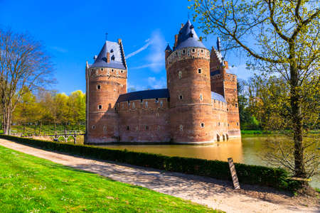 castello medievale: Castello Beersel medievale in Belgio