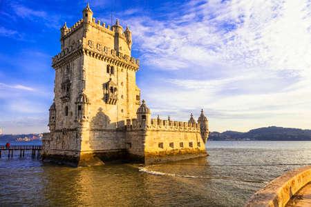 torre: Torre of Belem - landmarks of Portugal, Lisbon